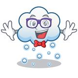 Geek snow cloud character cartoon Royalty Free Stock Image