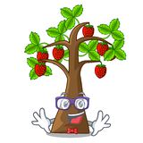 Geek strawberry tree in the mascot pots. Vector illustration vector illustration