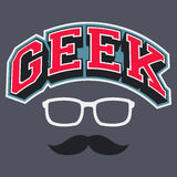 Geek T-shirt Typographic Design Stock Image