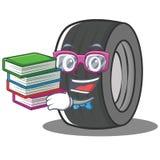 Geek tire character cartoon style. Vector illustration royalty free illustration