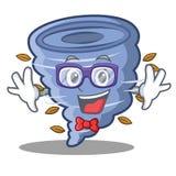 Geek tornado character cartoon style. Vector illustration vector illustration