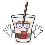 Geek white russian character cartoon. Vector illustration stock illustration
