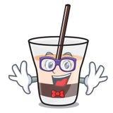 Geek white russian character cartoon. Vector illustration royalty free illustration