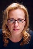 Geek woman. Portrait of a geek woman stock photo
