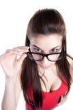Geek Woman Royalty Free Stock Photos