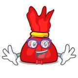 Geek wrapper candy character cartoon. Vector illustration stock illustration