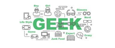 Geekbanner stock illustratie