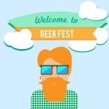 Geekfestflygblad stock illustrationer