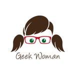 Geekkvinna Arkivfoton