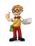 Geeky Boy Royalty Free Stock Photos