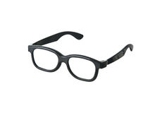 Geeky Funny Black Glasses Stock Photography