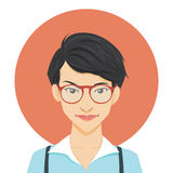 Geeky Girl Royalty Free Stock Photography