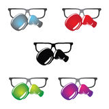 Geeky Glasses Logo Stock Images