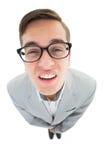 Geeky hipster frowning at camera Stock Photos