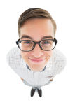Geeky hipster smiling at camera Royalty Free Stock Photography
