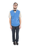 Geeky hipster wearing sweater vest Stock Photography