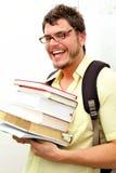 Geeky Kind, das zurück zum schoo geht Lizenzfreie Stockfotografie