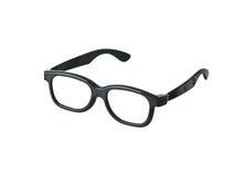 Geeky lustige schwarze Gläser Stockfotografie