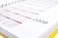 Geel agendaboek Stock Afbeeldingen
