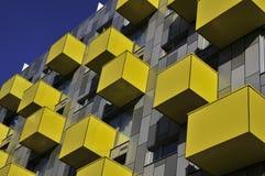 Geel balkon Stock Fotografie