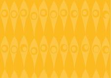 Geel behangpatroon royalty-vrije illustratie