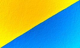 Geel/blauw Stock Fotografie