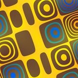 Geel Blauw Abstract Funky Art Background - Royalty-vrije Stock Afbeelding