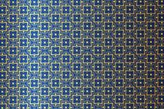 Geel-blauw bloemenpatroon Stock Afbeeldingen