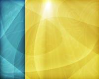Geel-blauw Desktopbehang Royalty-vrije Stock Afbeelding