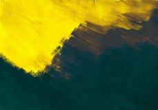 Geel - blauwe samenvatting Stock Afbeelding