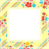 Geel bloemenkader Royalty-vrije Stock Fotografie