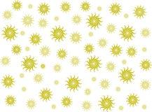 Geel bloemontwerp Stock Fotografie