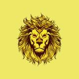 Geel Boos Lion Mascot stock illustratie