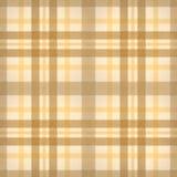 Geel bruin gecontroleerd stoffen naadloos patroon Stock Foto