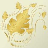 Geel de herfstblad royalty-vrije stock foto's