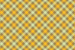 Geel de textuur van de controle diagonaal stof naadloos patroon als achtergrond vector illustratie