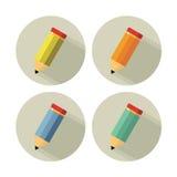 Geel die potlood op wit wordt geïsoleerd Stock Afbeelding