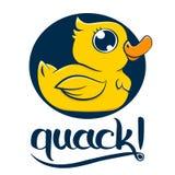Geel Duck Quack royalty-vrije illustratie