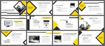 Geel element voor dia infographic op achtergrond presentatie vector illustratie