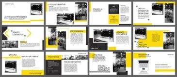 Geel element voor dia infographic op achtergrond presentatie stock illustratie