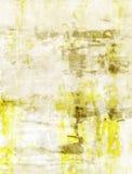 Geel en Beige Abstract Art Painting Royalty-vrije Stock Fotografie