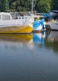 Geel en blauw Royalty-vrije Stock Afbeelding
