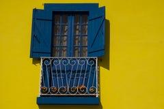Geel en blauw Aveiro Portugal Royalty-vrije Stock Afbeeldingen