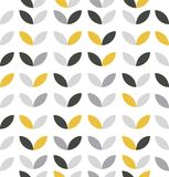 Geel en Grey Abstract Flower Pattern stock illustratie