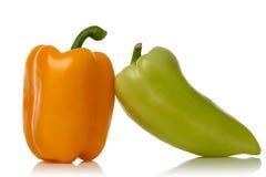 Geel en groene paprika's Stock Foto
