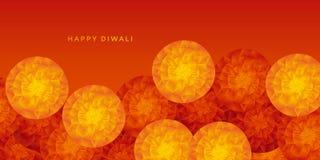 Geel en rood abstract Indisch bloemenpatroon vector illustratie