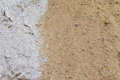 Geel en wit zand Stock Afbeeldingen