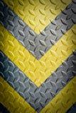 Geel en zwart waarschuwingssein stock afbeelding
