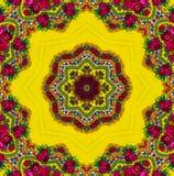 Geel Etnisch patroon Stock Afbeelding