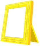Geel fotoframe Royalty-vrije Stock Afbeeldingen